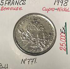 5 FRANCS SEMEUSE - 1998 - Pièce de Monnaie en Cupro-Nickel // BU