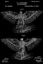 1889 - Flying Machine - R. J. Spalding - Patent Art Poster