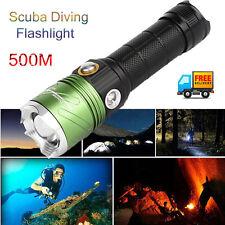 5000lm LED XM-L2 Diving Flashlight Scuba Light Torch Waterproof Underwater 500m