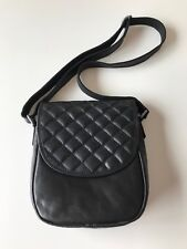 Jack Georges Horseshoe Quilted Crossbody Bag NWT RETAIL 168.00 LEATHER BLACK