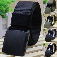 Men's Automatic Buckle Belt Practical Tactical Military Nylon Canvas Waist Belt
