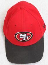 San Francisco 49ers Football NFL Hat Red Black White Med Large New Era Acrylic