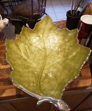 """Julia Knight 17"""" Kiwi Leaf bowl 4720026 NEW!!!"""