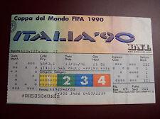 TICKET  WORLD CUP 1990 ARGENTINE - URSS 13/6/1990