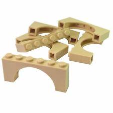 Lego 2x Arch Pont Brique brick 1x4x2 6182 Tan//Sand