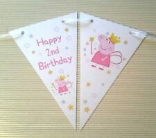 ☆ Peppa Pig - Bunting ☆ 2nd Birthday ☆ 12 Flags