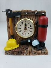 Fireman's Time Clock Firefighter Figurine Vanmark Red Hats of Courage FM88344