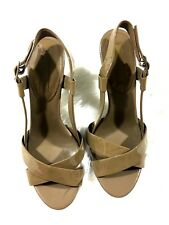 Banana Republic Sandal Heels Womans Size 8 Patent Leather Taupe