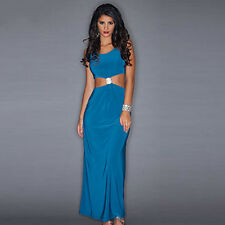 Miss Blushh Size 12 Ladies Summer Holiday Sun Turquoise Maxi Dress