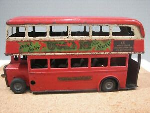 Vintage Tri-ang Minic Double Decker Bus.