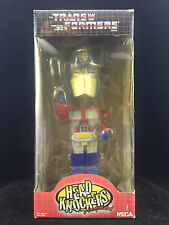 NECA TRANSFORMERS OPTIMUS PRIME HEAD KNOCKER BOBBLE HEAD NEW SLIGHT BOX WEAR