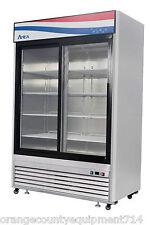 New 2 Sliding Glass Door ReachIn Refrigerator Atosa Mcf8709 #2346 Commercial Nsf