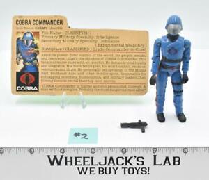 Cobra Commander Mickey Mouse #7 V1 Straight Arms Complete GI Joe Vintage 1982
