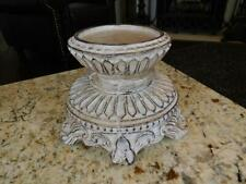Round Pillar Candle Holder, Rose Bowl Riser, Candleholder, Tuscan French Decor