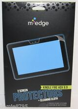 Medge 2 Screen Protectors + Cleaning Cloth for Kindle Fire HDX 8.9 New