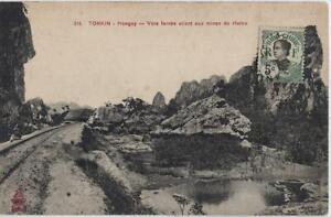 French INDOCHINA ca.1915 photo pc with 5 C stamp, to HAIPHONG