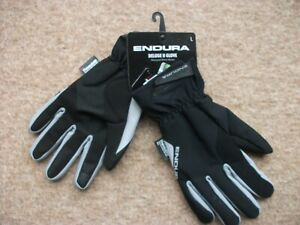 Endura Deluge  waterproof cycle glove black size large