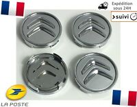 4x Cache Moyeu Jante Centre Roue Enjoliveur Logo insigne Citroen 60mm Neuf