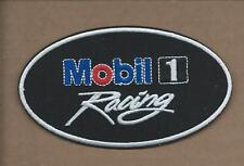 NEW 2 1/2 X 4 1/4 INCH MOBIL 1 RACING IRON ON PATCH FREE SHIPPING P1