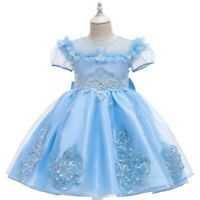 Girl's Flower Princess Dresses Party Formal Evening Gown Kid's Dress Xmas Gift