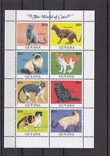 TIMBRE STAMP  BLOC GUYANA Y&T#2774-81 CHAT CAT NEUF**/MNH-MINT 1992 ~A28
