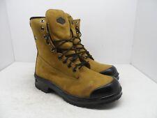 """Terra Men's 8"""" Sentry Steel Toe Steel Plate Work Boots Tan Size 9M"""