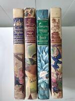 4 Illustrated Junior Library:Arabian Nights,Gullivers Travels,Robinson Crusoe +1
