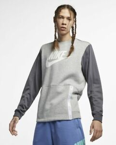 Nike Sportswear Men´s Crew Pullover Jumper Fleece Zip Pocket Kangaroo Sweatshirt