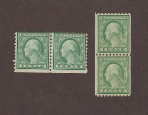 US,441,443,COIL PAIRS,WASHINGTON -FRANKLIN COLLECTION MINT,OG