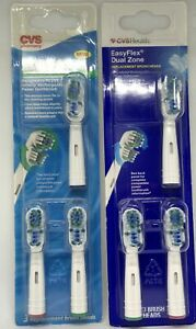 CVS Health EasyFlex Dual Zone Replacement Brush Heads NEW Lot 2
