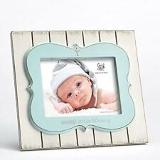 "Enesco White Washed Rustic Baby Photo Frame ""Mommy's Little Blessing"" Boys Blue"