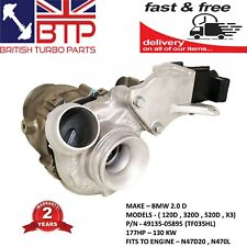 Turbocharger for BMW 120d 320d 520d Remanufactured 49135-058 Turbo 2 YR WARRANTY