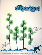 SUGARLAND Signed Autograph 18x24 Concert Poster Birmingham Alabama Country Music