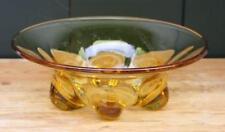 Schale WMF Glas Uranglas Art Deco ausgeschliffener Abriss gelb 26 x 9 cm