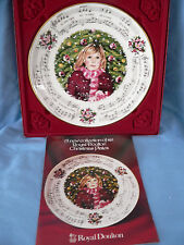 Royal Doulton Christmas Carols Plate Silent Night1983 1St In Series