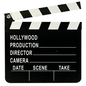 Hollywood Oscars Movie Party Prop Directors Clapboard