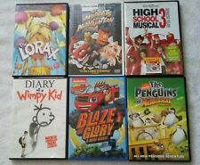 Lot of 6 Kids' Movies DVDs! Disney, Nickelodeon, Wimpy Kid, Muppets, Dr Seuss