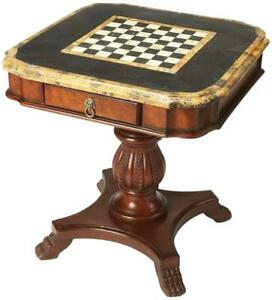 GAMES TABLE CHESS/BACKGAMMON BACKGAMMON CHESS HERITAGE DISTRESSED FOSSIL S