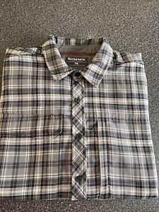 Simms Guide Series Black/gray Plaid Shirt Men's 2XL/ Gently Used* Nice