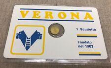 Verona Calcio Serie A tessera + Moneta Commemorativa Anni 90