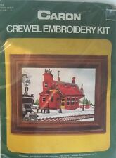 TRAIN DEPOT #6122 Crewel Kit Needlework Embroidery Kit ~NIP 1975