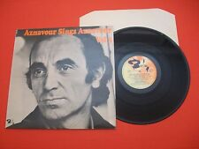 CHARLES AZNAVOUR - Sings Aznavour Volume 3 - 1972 UK LP PS  Barclay 80472 M-/EX+