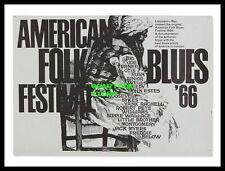 "AMERICAN FOLK BLUES FESTIVAL 1966- MINI-POSTER PRINT 7"" x 5"""