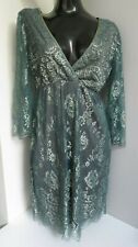 NANCY MAC VINTAGE EMMIE TEAL GREEN LACE TUNIC REEF LINED DRESS SIZE 2 UK 10 BNWT