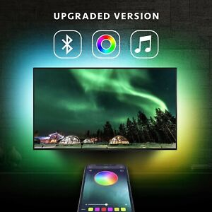 TV Backlight RGB LED Neon Accent Lights Strips for HDTV - Smartphone Controlled!