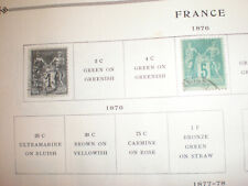 (Lot of 2) 1876 France 1c & 5c Used Hinged Stamps