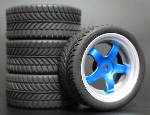 1/10 Onroad Touring Rc Car Wheels Rubber Tires for Traxxas 4-tec 2.0 nitro 4tec