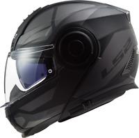 LS2 FF902 Scope Axis Black Titanium Flip Up Modular Motorcycle Bike Urban Helmet