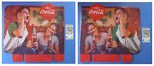 Coca-Cola cartello bifrontale 46x45 in cartone stampa lucida cocacola Euro 2016