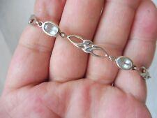 Edles Armband__925 Silber __mit geschliffenen , hellblauen Steinen __